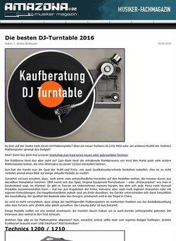 Amazona.de Die besten DJ-Plattenspieler 2016