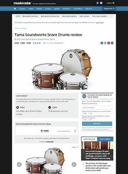 MusicRadar.com Tama Soundworks Snare Drums