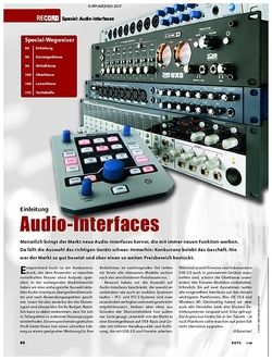 KEYS Special: Audio-Interfaces
