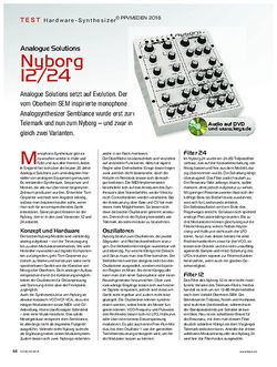 KEYS Analogue Solutions Nyborg 12/24
