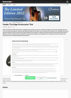 Bonedo.de Fender The Edge Stratocaster