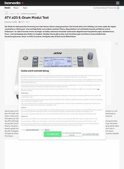 Bonedo.de ATV aD5 E-Drum Modul