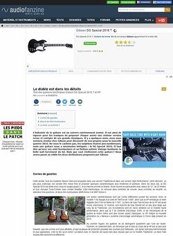 Audiofanzine.com Gibson SG Special 2016 T