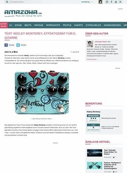 Amazona.de Test: Keeley Monterey, Effektgerät für E-Gitarre