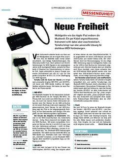 tastenwelt Yamaha MD-BT01 & UD-BT01 - Neue Freiheit