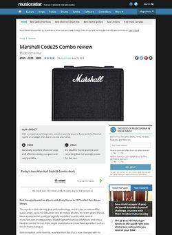 MusicRadar.com Marshall Code25 Combo