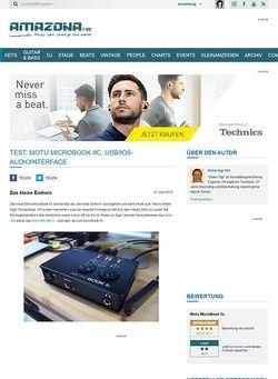 Amazona.de Test: Motu MicroBook IIc, USB/iOS-Audiointerface
