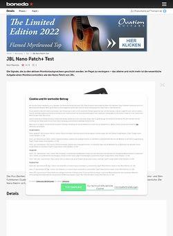 Bonedo.de JBL Nano Patch+
