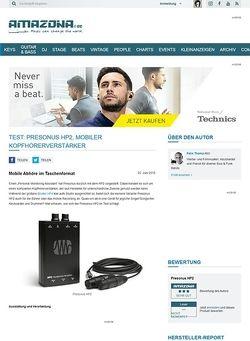 Amazona.de Test: Presonus HP2, Mobiler Kopfhörerverstärker