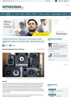 Amazona.de Vergleichstest: Adam A7X, Eve Audio SC207, Genelec 8320A, KS Digital D60, Neumann KH120
