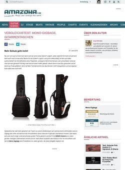 Amazona.de Vergleichstest: Mono Gigbags, Gitarrentaschen