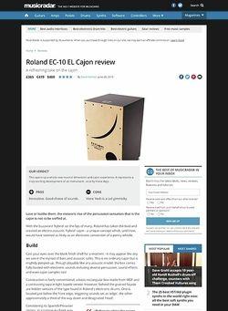 MusicRadar.com Roland EC-10 EL Cajon