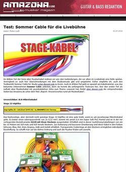 Amazona.de Test: Sommer Cable für die Livebühne