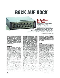 Gitarre & Bass Glockenklang Blue Rock, Bass-Head