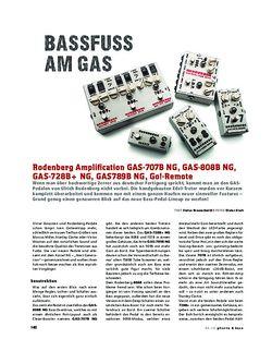 Gitarre & Bass Rodenberg Amplification GAS-707B NG, GAS-808B NG, GAS-728B+ NG GAS789B NG, FX-Pedale