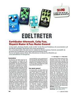 Gitarre & Bass EarthQuaker Afterneath, Colby Fuzz, Dispatch Master & Fuzz Master General, FX-Pedale
