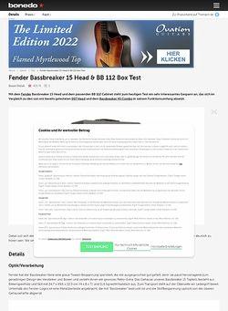 Bonedo.de Fender Bassbreaker 15 Head & BB 112 Box