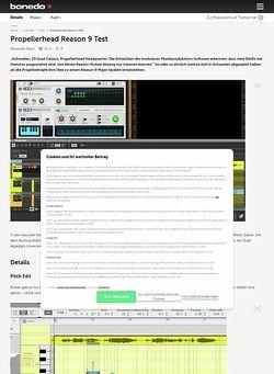 Bonedo.de Propellerhead Reason 9