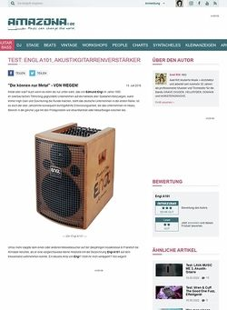 Amazona.de Test: Engl A101, Akustikgitarrenverstärker