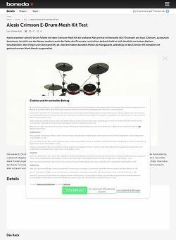 Bonedo.de Alesis Crimson E-Drum Mesh Kit
