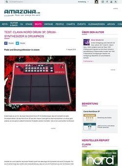 Amazona.de Test: Clavia Nord Drum 3P, Drum-Synthesizer