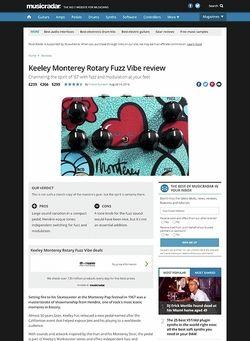 MusicRadar.com Keeley Monterey Rotary Fuzz Vibe