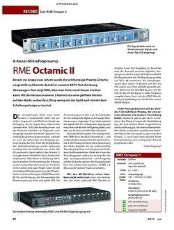 KEYS Test: RME Octamic II