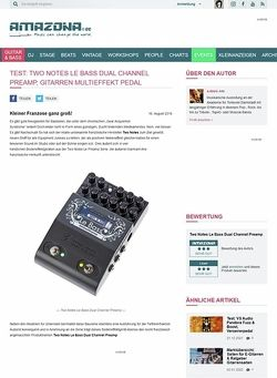 Amazona.de Test: Two Notes Le Bass Dual Channel Preamp, Effektgerät für Bass