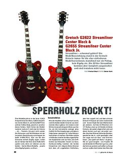 Gitarre & Bass Gretsch G2622 Streamliner Center Block & G2655 Streamliner Center Block Jr.