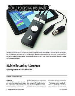 Sound & Recording Lightning Interfaces & USB-Mikrofone