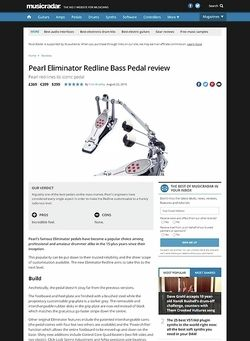 MusicRadar.com Pearl Eliminator Redline Bass Pedal