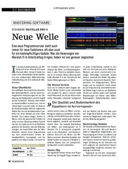 SOUNDCHECK Steinberg Wavelab Pro 9
