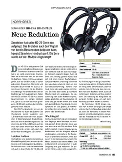 SOUNDCHECK Sennheiser HD 25, HD 25 Light und HD 25 Plus