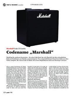 guitar Marshall Code 25 Combo