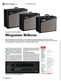 guitar Vox AV15, AV30, AV60