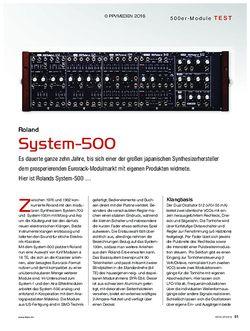 KEYS Roland System-500