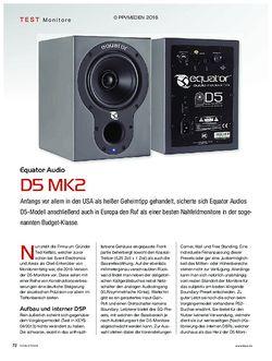 KEYS Equator Audio D5 MK2