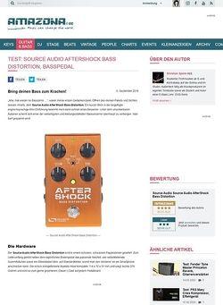 Amazona.de Test: Source Audio AfterShock Bass Distortion, Effektgerät für Bass