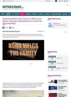 Amazona.de Vergleichstest: Akai Tom Cat, Korg Volca Beats, Teenage Engineering PO-12 rhythm, Grooveboxen