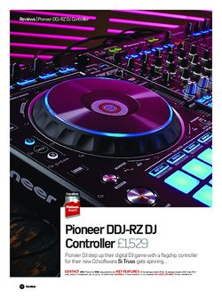 Future Music Pioneer DDJ-RZ DJ Controller