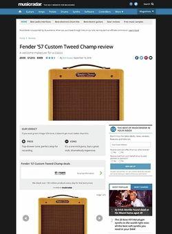 MusicRadar.com Fender '57 Custom Champ