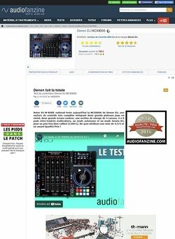 Audiofanzine.com Denon DJ MCX8000