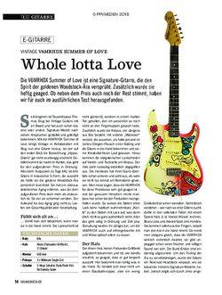 SOUNDCHECK VINTAGE V6MRHDX SUMMER OF LOVE
