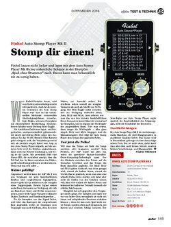guitar Finhol Auto Stomp Player Mk II