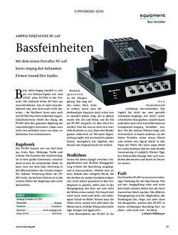 Recording Magazin AMPEG PORTAFLEX PF-20T