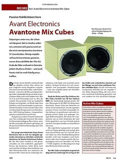 KEYS Test: Avant Electronics Avantone Mix Cubes