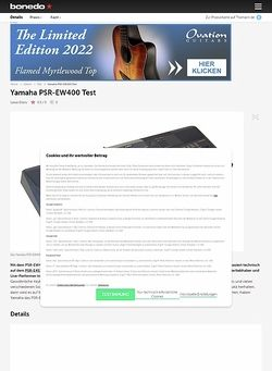 Bonedo.de Yamaha PSR-EW400