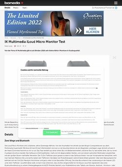Bonedo.de IK Multimedia iLoud Micro Monitor