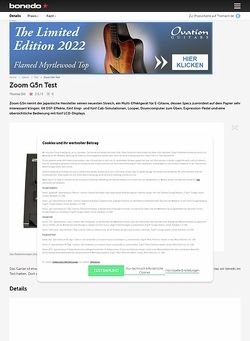 Bonedo.de Zoom G5n
