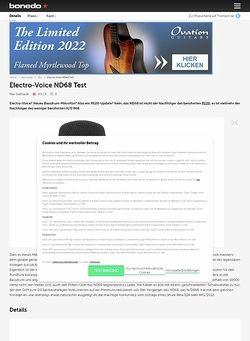 Bonedo.de Electro-Voice ND68